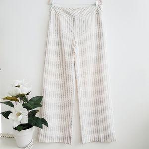 Loft Linen Blend White Leg Pant